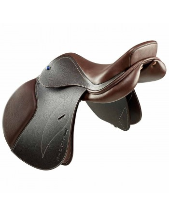 Selle Jumping IKONIC CLASSIC ''Doublé veau'' Siège semi-creux