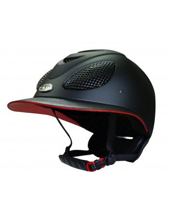 Casque first lady  bicolore noir / rouge lethear Gpa